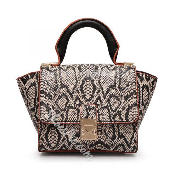 Shoespie Snakeskin Tote Handbag