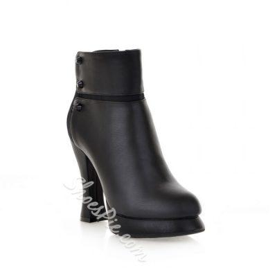 1f27b655481 Shoespie Fashionablel Ankle Wrap Black Platform Heels - Fashion 4 Shoes