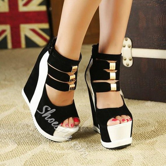 7f745dc61 Shoespie Strappy Ankle Wrap Wedge Sandals - Fashion 4 Shoes