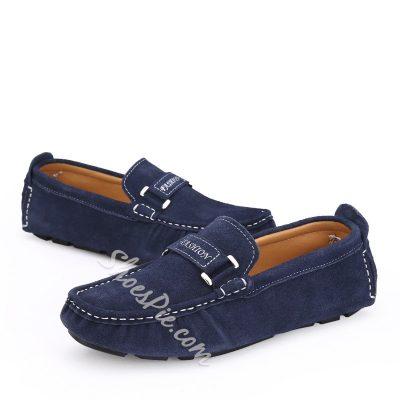 Shoespie Suede Pure Color Men's loafers