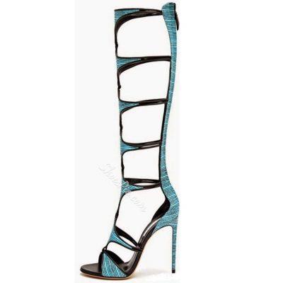 Shoespie T Strap Cutout Gladiator Sandal Boots