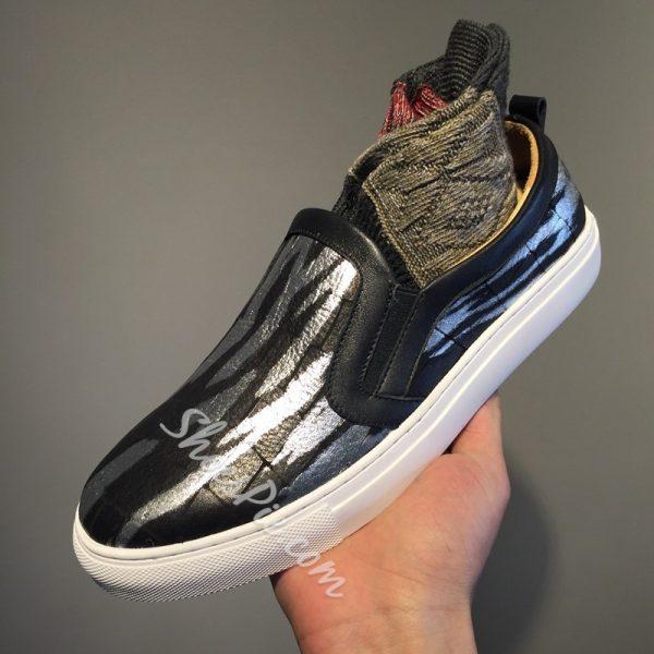 Shoespie Unique Crack Print Men's Loafers