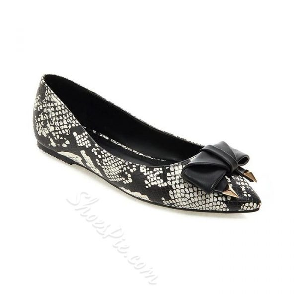Shoespie Wild Pattern Bowtie Loafers