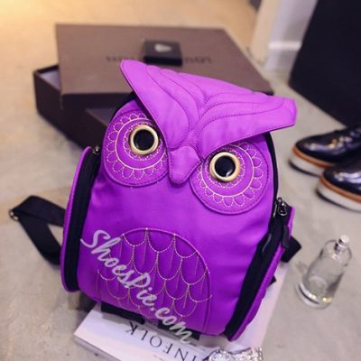 Shoespie owl Print Backpack