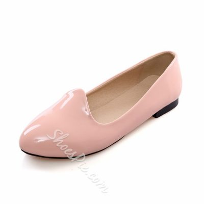 Solid Color Round Toe Flats