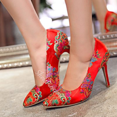 Shoespie Chinese Embroidered Bridal Shoes
