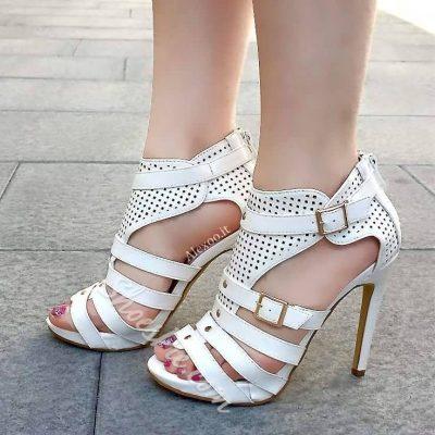 Shoespie Cut-out Buckle Decorated Platform Sandals
