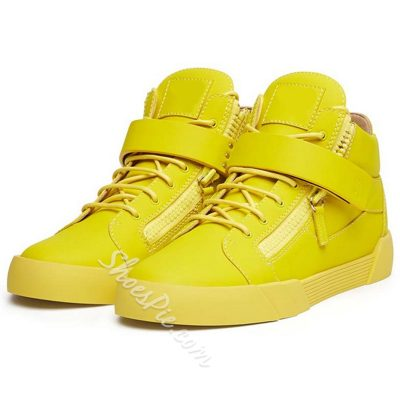 Shoespie Bright Yellow Fashion Sneakers