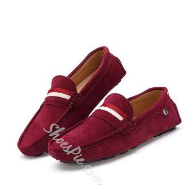 Shoespie Contrast Color Flat Heel Mens Loafers