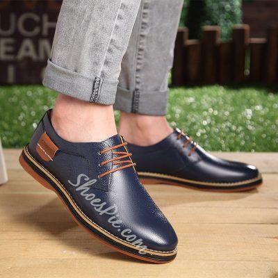 Shoespie Elegant Lace up Mens Oxfords