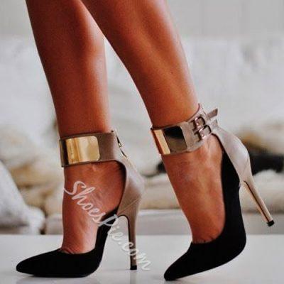 Shoespie Gorgeous Contrast Color Ankle Corset Stiletto Heels