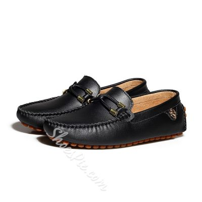 Shoespie Leather Mens Penny Loafers