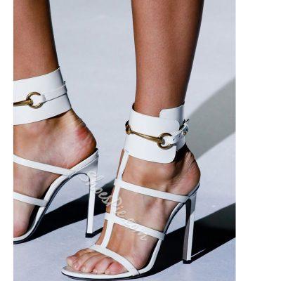 Shoespie Metal Cut-out Dress Sandals