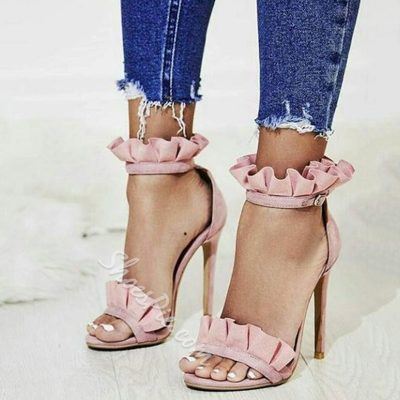 Shoespie Open Toe Stiletto Heel Sandals