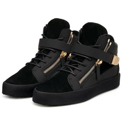 Shoespie Black Suede Mens Fashion Sneakers