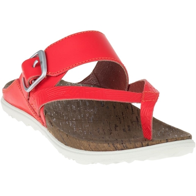 Fashion 4  Shoes - Around Town Buckle Thong - Red