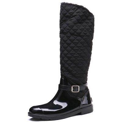 Shoespie Stylish Side Zipper Block Heel Round Toe Casual Boots