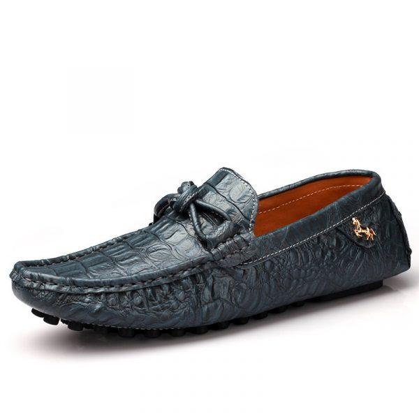 Shoespie Mens Slip-On Plain Low-Cut Upper PU Thin Shoes
