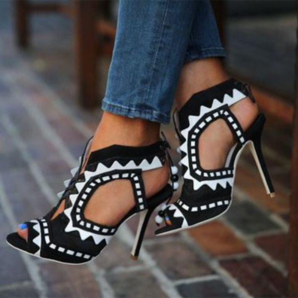 Shoespie Stylish Slip-On Stiletto Heel Thread Ultra-High Heel Thin Shoes