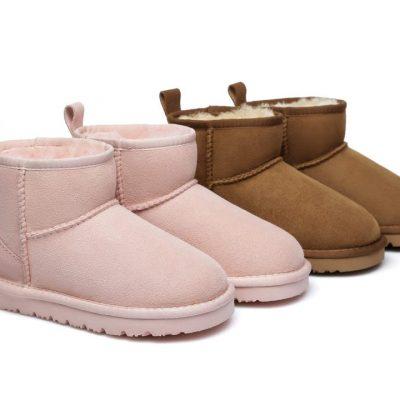 Fashion 4 Shoes - AS UGG Kids Mini Classic Boots - Pink / AU Kids 1-2 / EU 33