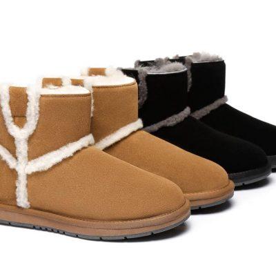 Fashion 4 Shoes - AS UGG Mini Boots Schunck - Chestnut / AU Ladies 8 / AU Men 6 / EU 39