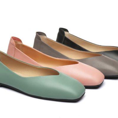 Fashion 4 Shoes - AS UGG Women Flat Linda - Grey / AU Ladies 4 / AU Men 2 / EU 35