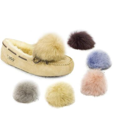 Fashion 4 Shoes - Clip-on Pom Poms - Chocolate / One Size