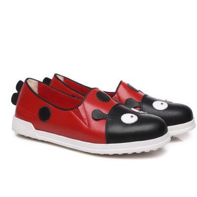 Fashion 4 Shoes - Ever UGG Dotti Kids Breathe cowhide Leather Shoes #21425 - Red / AU Kids 10-11 / EU 29