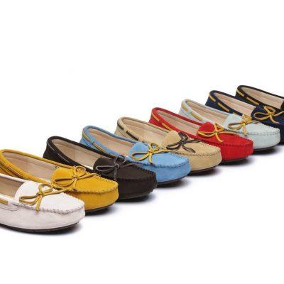 Fashion 4 Shoes - Ever UGG Women Lace Summer Moccasin - Chestnut / AU Ladies 7 / AU Men 5 / EU 38