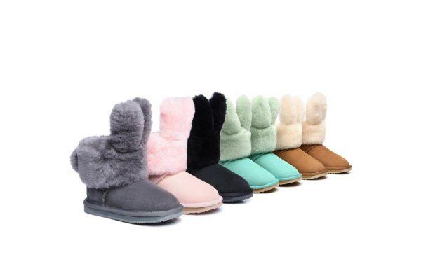 Fashion 4 Shoes - Ever UGG kids Buddy Bunny Boots #21500 - Grey / AU Kids 8-9 / EU 27