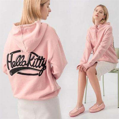 Fashion 4 Shoes - Hello Kitty Short Hoodie #888011 - Black / M