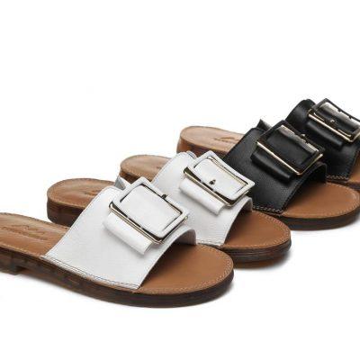 Fashion 4 Shoes - TA Women Slide Bera - Black / AU Ladies 5 / AU Men 3 / EU 36