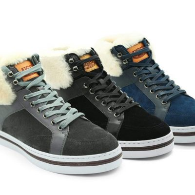 Fashion 4 Shoes - UGG Mens Casual Jordan Boots Fur - Grey / AU Ladies 12 / AU Men 10 / EU 43