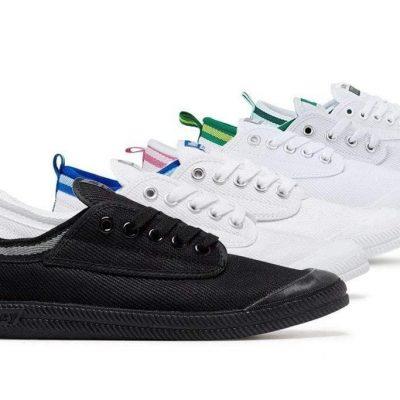 Fashion 4 Shoes - Volley Unisex Adult Sneaker International Canvas #BC600000/BC600000S - White Light Grey / AU Ladies 6 / AU Men 4 / EU 37