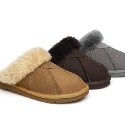 Fashion 4 Shoes - AS UGG Slipper Robert - Chocolate / AU Ladies 5 / AU Men 3 / EU 36