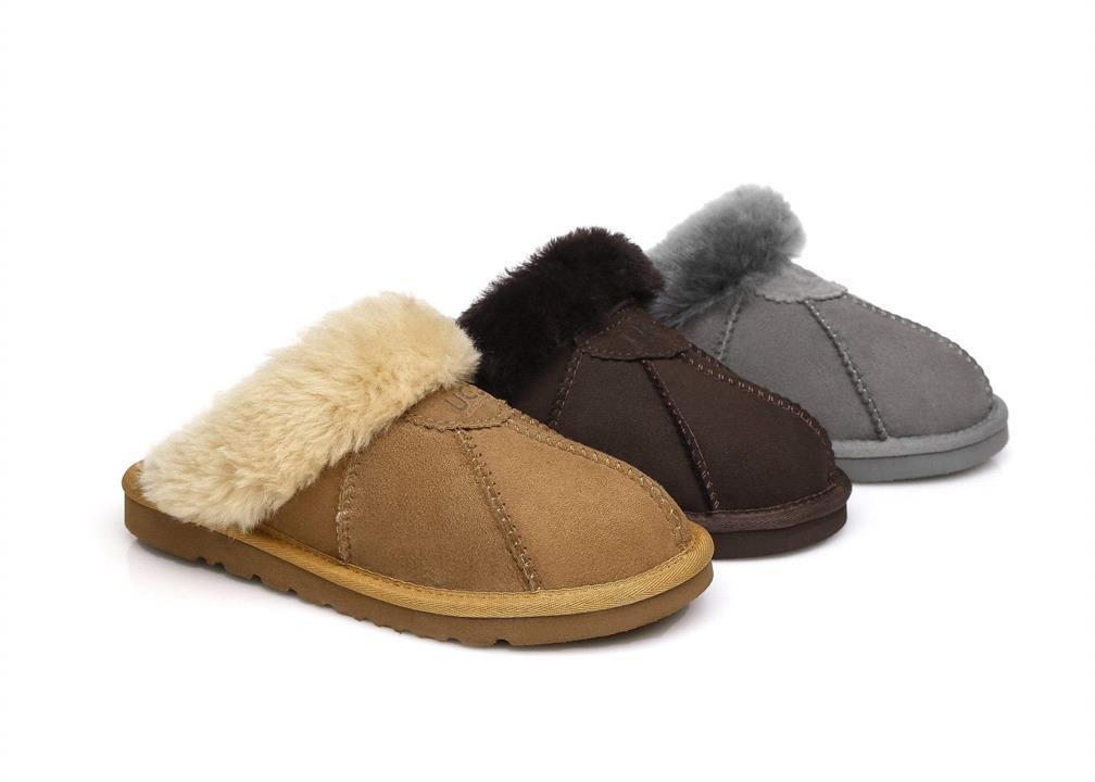 Fashion 4 Shoes - AS UGG Slipper Robert - Grey / AU Ladies 13 / AU Men 11 / EU 44