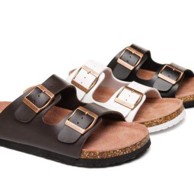 Fashion 4 Shoes - AS UGG Summer Unisex Beach Slip-on Flats Sandal Slides Mick - Brown / AU Ladies 12 / AU Men 10 / EU 43