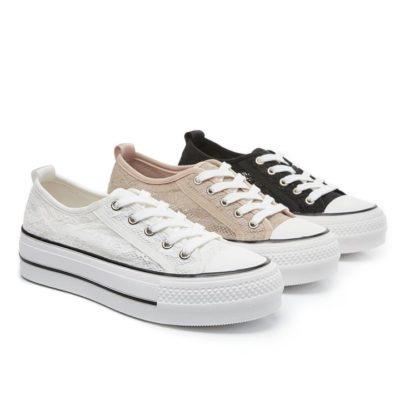 Fashion 4 Shoes - TA Women Platform Sneakers Lerna - White / AU Ladies 9 / AU Men 7 / EU 40