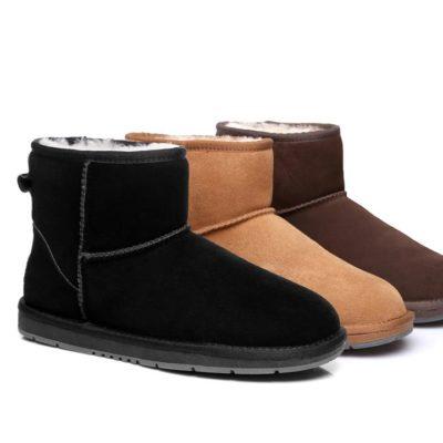 Fashion 4 Shoes - UGG Boots Australian Genuine Sheepskin Unisex Mini Classic Suede - Chocolate / AU Ladies 8 / AU Men 6 / EU 39