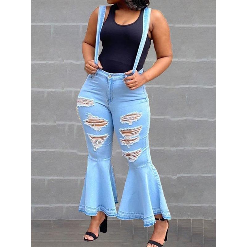 Plain Suspenders Full Length Mid Waist Womens Jumpsuit