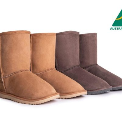 Fashion 4 Shoes - AS Unisex Short Classic Australian Made UGG Boots - Chestnut / AU Ladies 4 / AU Men 2 / EU 35
