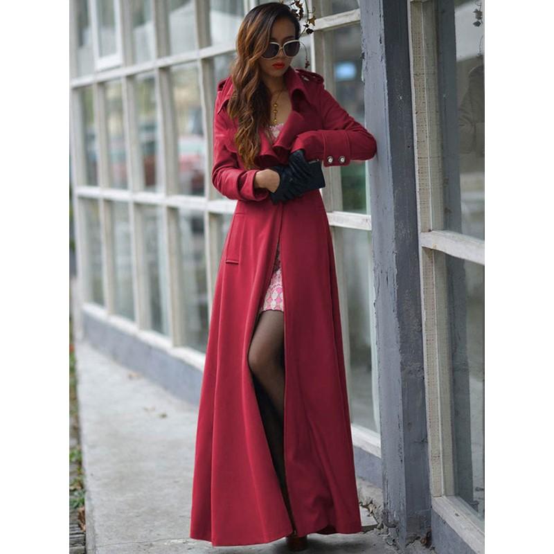 Long Slim Fashion Womens Trench Coat