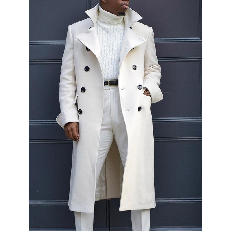 Plain Long Lapel Fall Casual Coat