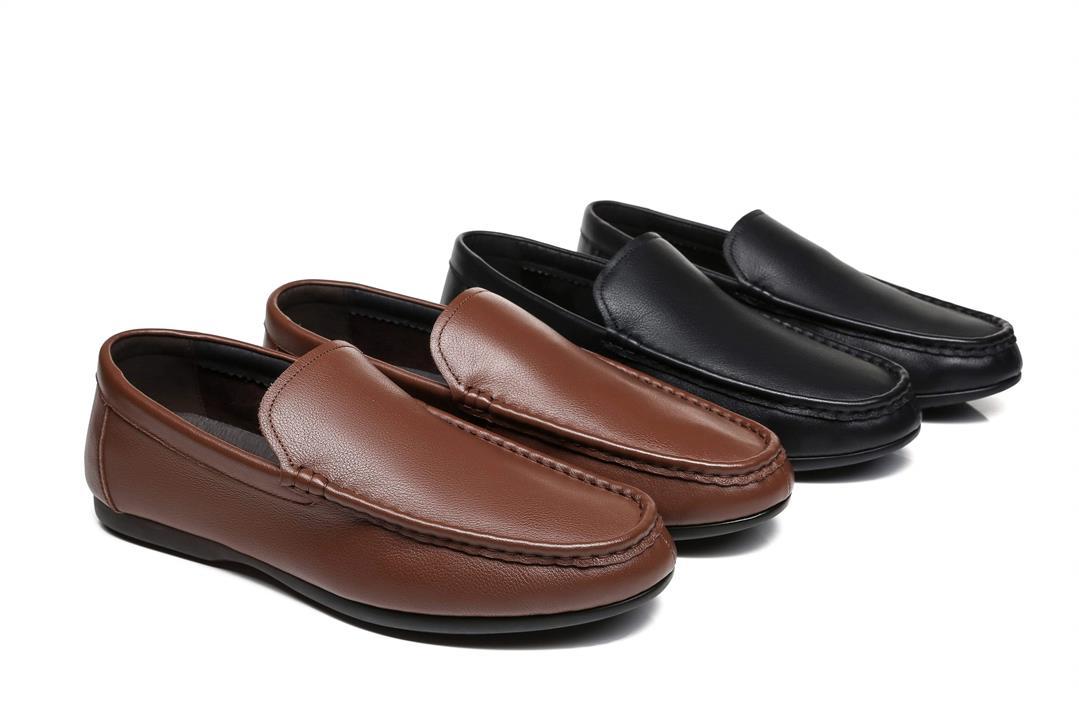 Fashion 4 Shoes - Tarramarra Men Loafer Luke Leather Ultra Soft - Chestnut / AU Ladies 10 / AU Men 8 / EU 41