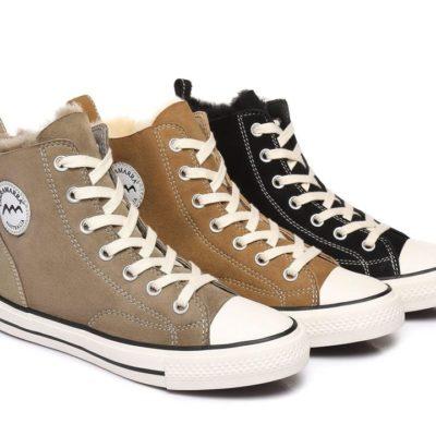 Fashion 4 Shoes - TA Viola High Top Women Sneakers Sheepskin Lining - Chestnut / AU Ladies 7 / AU Men 5 / EU 38