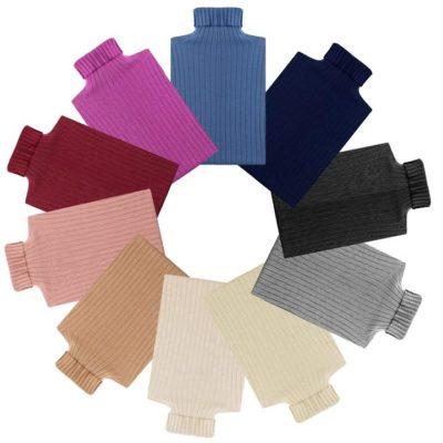 Fashion 4 Shoes - TA Wool Stripe Knitwear Turt - Pink / L