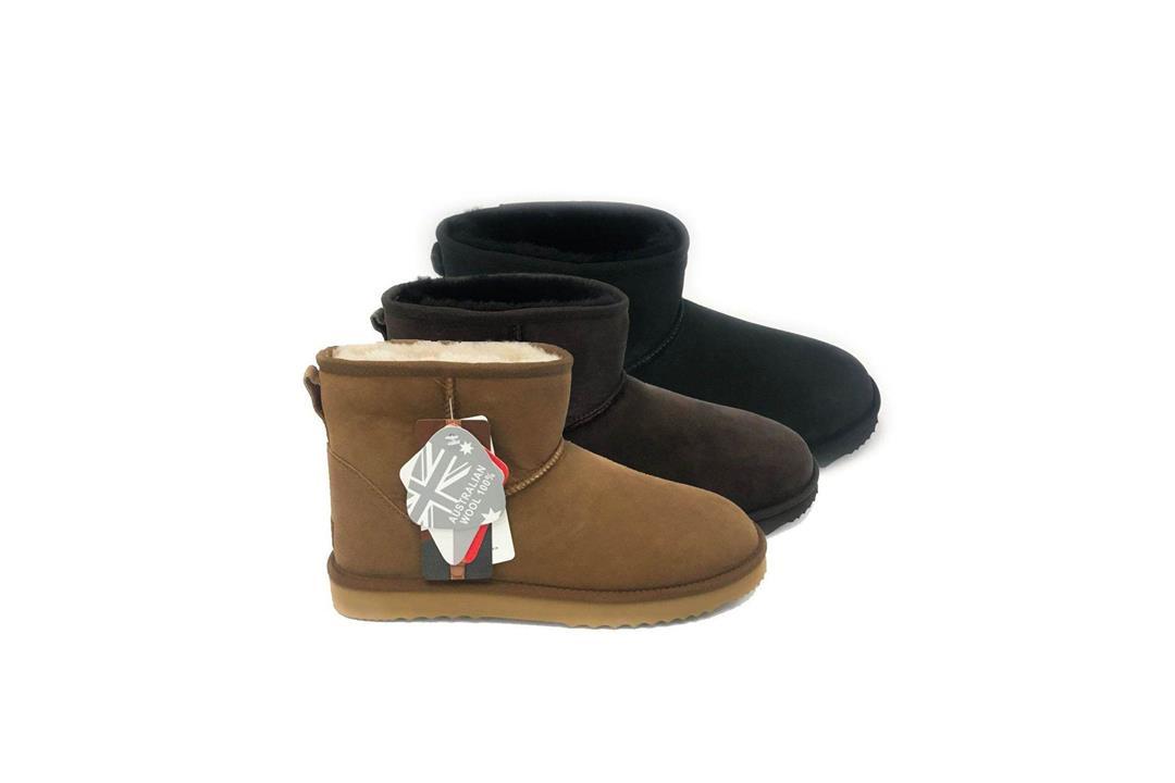 Fashion 4 Shoes - UGG Boots Men Large Size Mini Classic,Australian Genuine double Face Sheepskin,Water Resistant, 15720 - Chestnut / AU Ladies 16 / AU Men 14 / EU 47