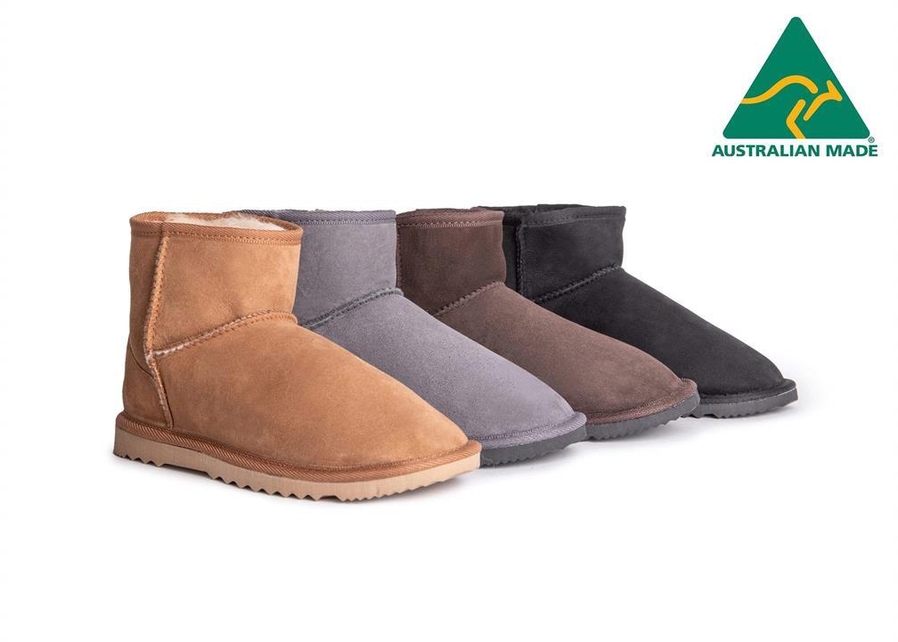 Fashion 4 Shoes - AS Australian Made Boots Mini Classic Unisex - Grey / AU Ladies 13 / AU Men 11 / EU 44