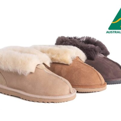 Fashion 4 Shoes - AS Australian Made Sheepskin Slippers Unisex UGG Slipper - Chocolate / AU Ladies 6 / AU Men 4 / EU 37