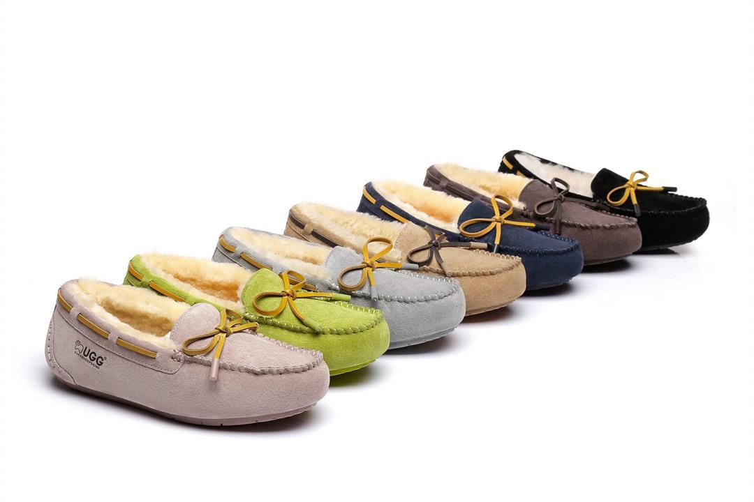 Fashion 4 Shoes - Ever UGG Miracle Moccasin Slipper - Chestnut / AU Ladies 12 / AU Men 10 / EU 43